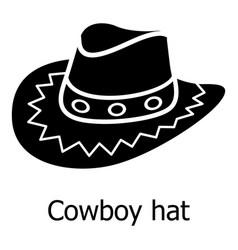 Cowboy hat icon simple black style vector