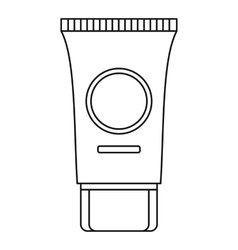 Cream tube icon outline style vector image