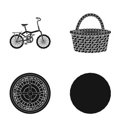 fitness sport and other web icon in black style vector image