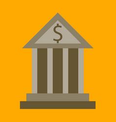 flat icon on stylish background business bank vector image vector image