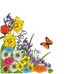 garden sketch vector image vector image