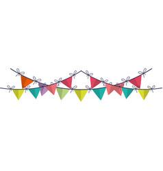 garland decoration party icon vector image