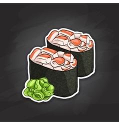 Gunkan Spicy Ebi vector image