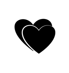 Heart couple black icon vector