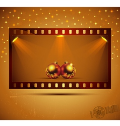 Holidays film strip vector image
