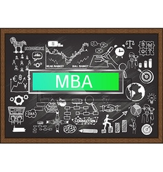 Mba on chalkboard vector