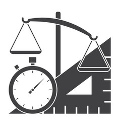 measuring instrument icon vector image