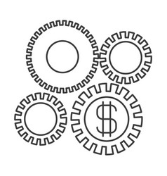 Monochrome silhouette of economic development vector
