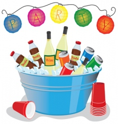 Party drinks vector