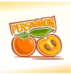 persimmon still life vector image