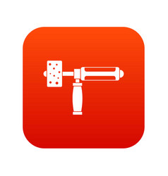 Precision grinding machine icon digital red vector
