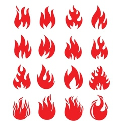 red fire vector image