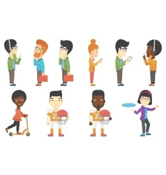 set of business and sport characters vector image vector image