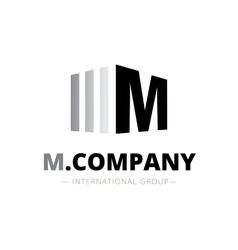 trendy isometric M letter logo vector image vector image