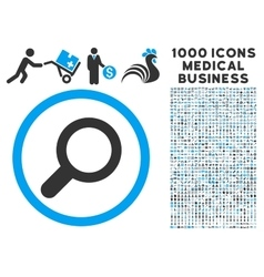 View Icon with 1000 Medical Business Pictograms vector image vector image