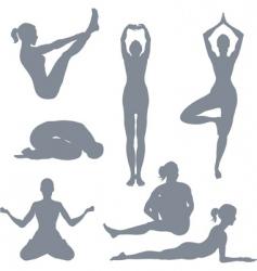 Yoga postures vector