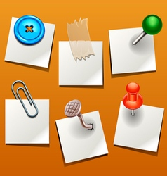 push pin various vector image