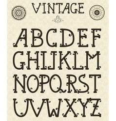 Retro self made font vector