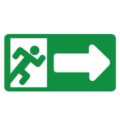 Green exit emergency sign vector