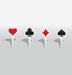 Stickers with playing card signs vector image