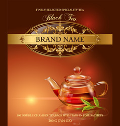 Black tea banner vector