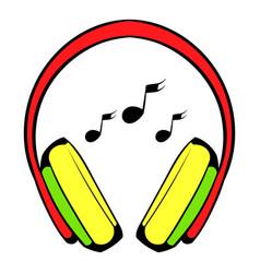 headphone icon icon cartoon vector image