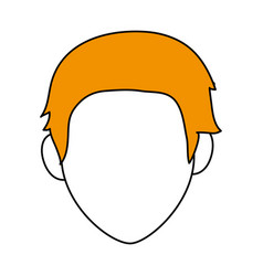 Sketch color silhouette faceless front view man vector