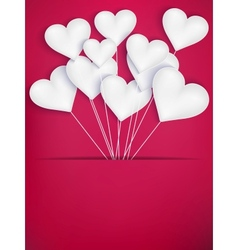 Valentines day heart balloons eps 10 vector