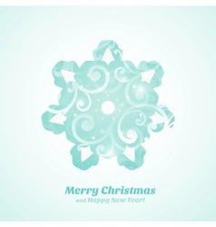 Christmas tree with ornaments vector