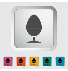 Egg on stand single icon vector