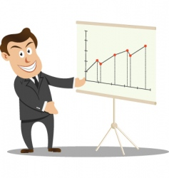 Businessman at presentation vector