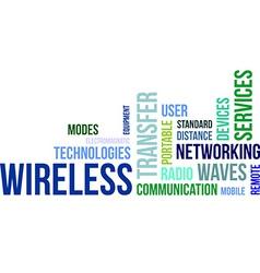 word cloud wireless vector image
