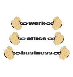 Work office business signs vector