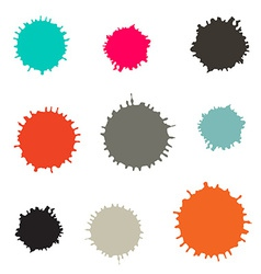 Splashes - Blots Stains Set Isolated on White vector image