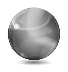 Black opaque sphere vector