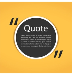 Round text box with quotes vector