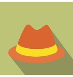 Male hat flat icon vector