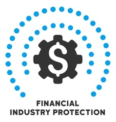 Financial industry protection icon with vector