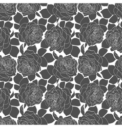 Romantic roses seamless pattern in retro style vector