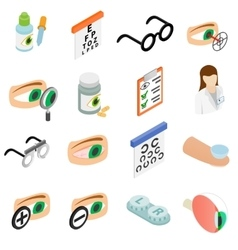 Vision correction icons set vector