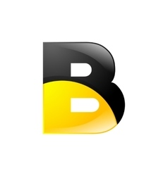 Creative yellow and black symbol letter B for your vector image