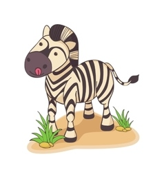 Hand drawn of Zebra vector image