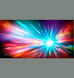 abstract background with blurred magic neon color vector image vector image