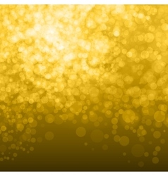 Abstract Golden Background bokeh vector image vector image