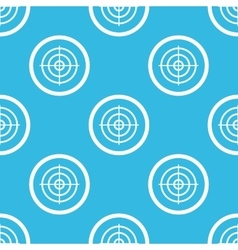 Aim sign blue pattern vector image