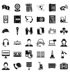 All day icons set simple style vector