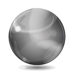 Black opaque sphere vector