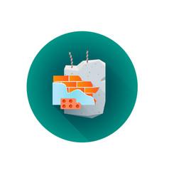 building rubble waste icon vector image vector image