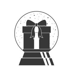 christmas crystal globe vector image