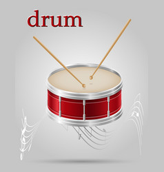drum musical instruments stock vector image vector image